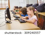 students using computers in the ... | Shutterstock . vector #309240557
