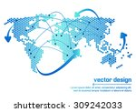 vector world map design | Shutterstock .eps vector #309242033