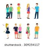 flat style modern people in... | Shutterstock .eps vector #309254117