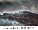 Dark Clouds And Crashing Ocean...