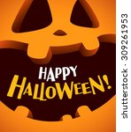 happy halloween  | Shutterstock .eps vector #309261953