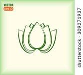 vector illustration lotus  | Shutterstock .eps vector #309271937