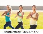 portrait of smiling sporty... | Shutterstock . vector #309274577