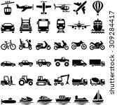 transport icons collection  ... | Shutterstock .eps vector #309284417