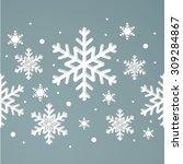 seamless winter texture. winter ... | Shutterstock .eps vector #309284867