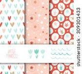 set of seamless vector patterns ... | Shutterstock .eps vector #309301433