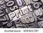 lead type letters form the word ...   Shutterstock . vector #309301787
