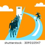 different ways of business.... | Shutterstock .eps vector #309310547