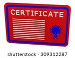 concept  certificate | Shutterstock . vector #309312287