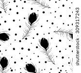 vector seamless pattern.... | Shutterstock .eps vector #309317243