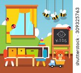 preschool kindergarten... | Shutterstock .eps vector #309325763