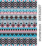 tribal ethnic pattern... | Shutterstock .eps vector #309326207