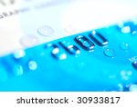 water drops on a credit card