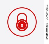 lock icon. flat design style....