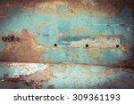 Rusty Metal Plate Panel...