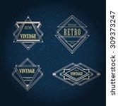 art deco geometric vintage... | Shutterstock .eps vector #309373247