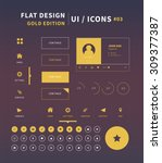clean vector flat design ui kit ...
