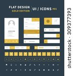 vector flat design ui kit for...