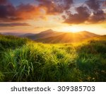 mountain landscape during... | Shutterstock . vector #309385703