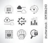 data analytics and network... | Shutterstock .eps vector #309386243