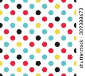 Polka Dot Pattern  Seamless...