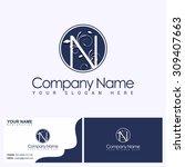 luxury alphabetical logo and... | Shutterstock .eps vector #309407663