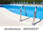 swimming pool with stair at... | Shutterstock . vector #309420257