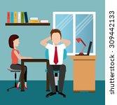 business digital design  vector ... | Shutterstock .eps vector #309442133