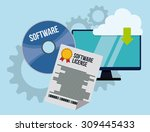 software digital design  vector ... | Shutterstock .eps vector #309445433