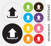 upload icon   vector | Shutterstock .eps vector #309455663