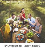 diverse people party... | Shutterstock . vector #309458093