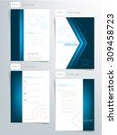 brochure template orange and... | Shutterstock .eps vector #309458723