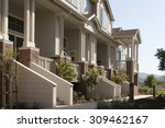 townhome porches along a common ...   Shutterstock . vector #309462167