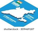 india map vector three... | Shutterstock .eps vector #309469187