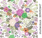 beauty seamless floral pattern   Shutterstock .eps vector #309492647