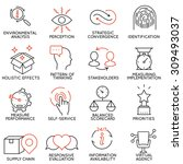 vector set of 16 icons related... | Shutterstock .eps vector #309493037
