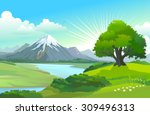 beauty of nature   snow capped...   Shutterstock .eps vector #309496313