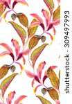 Seamless Botanical Pattern Wit...