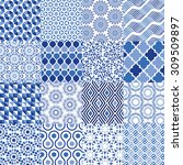 universal vector pattern set  ... | Shutterstock .eps vector #309509897