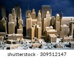 Scale Model Of A City Showing...