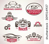 race cars  racing emblem and... | Shutterstock .eps vector #309514937