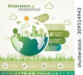 ecology infographics ... | Shutterstock .eps vector #309514943