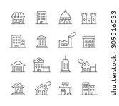 building icons set. | Shutterstock .eps vector #309516533