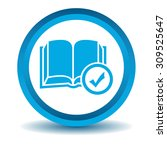 select book icon  blue  3d ...