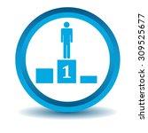 pedestal icon  blue  3d ...