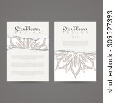 a set of two designs for... | Shutterstock .eps vector #309527393