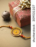 handmade raakhi and a gift for... | Shutterstock . vector #309531107