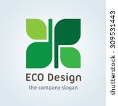 eco design logo eco logo green... | Shutterstock .eps vector #309531443