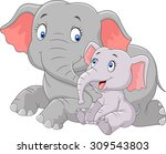 cartoon mother and baby... | Shutterstock . vector #309543803