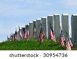 Gravestones Decorated With U.s...